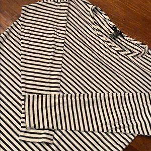 Forever 21 Oversized Striped Long Sleeve